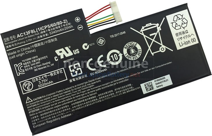 Battery for Acer Iconia W4-820 laptop