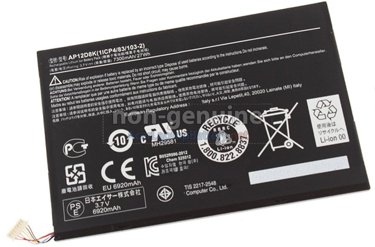 Battery for Acer AP12D8K(1ICP4/83/103-2) laptop