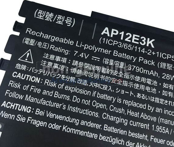 Battery for Acer 1ICP3/65/114 laptop