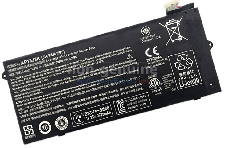 Battery for Acer Chromebook C720P-2600 laptop