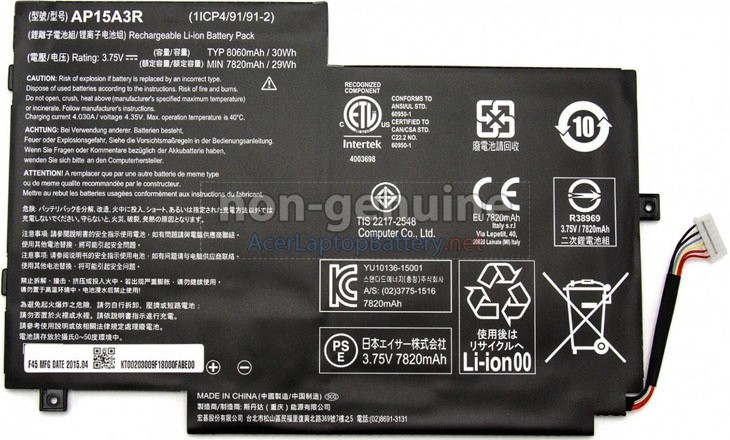 Battery for Acer Aspire SWITCH 10 SW3-013 laptop