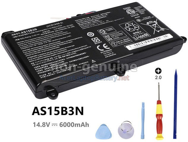 Battery for Acer Predator 15 G9-592-74NV laptop