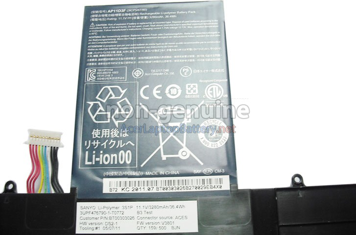 Battery for Acer Aspire S3-951-2464G34ISS laptop