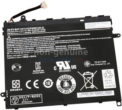 Acer 1ICP5/80/120-2 replacement laptop battery